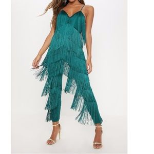 Green frilly Long Romper